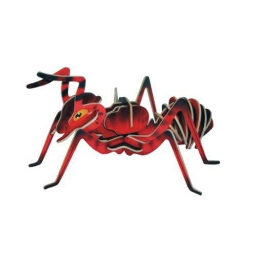 AMEISE - farbig 3D Holzbausatz - Holz Insekt - Model: EC002 von etna