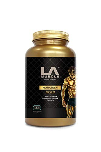 LA Muscle Norateen Gold (42 Capsules - 1 Pack) 100% Natural Extreme Muscle Gain Formula Weight Gain...