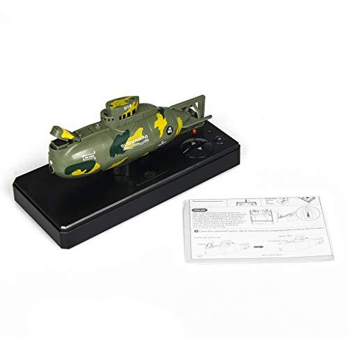 Gwxevce 3311M Mini RC U-Boot Boot RC Spielzeug Fernbedienung Simulation Tauchen Geburtstagsgeschenk für Kinder Jungen Grün