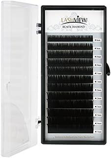 LASHVIEW Ellipse Eyelash Extensions 0.15mm D Curl 8-15mm Mix Flat Eyelash Extension Light Lashes Individual Eyelashes Black Mink False Lashes Mink Lashes Extensions Salon Use