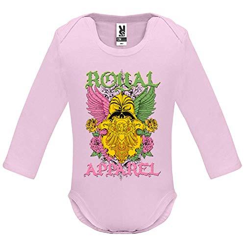 LookMyKase Body bébé - Manche Longue - Royal Apparel - Bébé Fille - Rose - 3MOIS