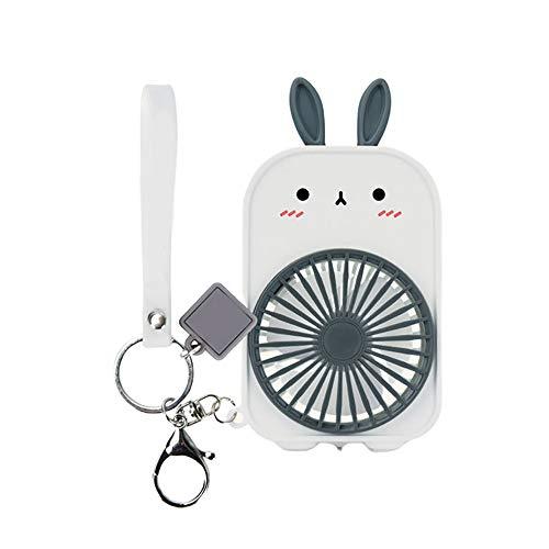 Jia Hu 1 x Mini-Schlüsselanhänger mit niedlichem Kaninchen-Handfächer.