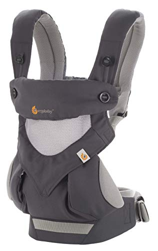 Ergobaby 360 All-Position Baby Carrier with Lumbar Support and Cool Air Mesh (12-45 Pounds), Carbon Grey