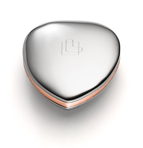 Lunavit Power Heart Duo, Magnetherz aus Edelstahl und Kupfer, für Rücken, Nacken und Gelenke, 1 Neodym Magnet mit 3000 Gauß, kleine Geschenkidee für Frauen und Männer