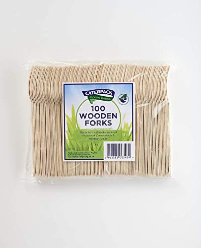 Caterpack Enviro - Tenedores de madera (100 unidades)