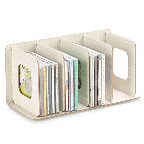 AWJ Détachable en Bois 4 Sections De Stockage Rack Boîte De Bureau Conseil DIY Organisateur Amovible Étagère À Livres Rack CD DVD Stand De Stockage