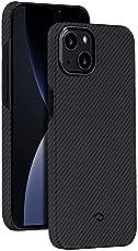 PITAKA Ultra Thin Case Compatible with iPhone 13 Mini 5.4 Inch [Air Case] 600D Premium Aramid Fiber Minimalist Phone Cover, Carbon Fiber Look