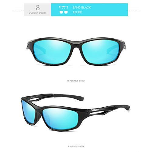 Burenqi Espejo Cuadrado Gafas de Sol polarizadas Hombres Luj