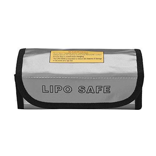 Docooler Battery Safe Bag A prueba de explosiones Lipo Firepoof Bolsa de protección impermeable para carga y almacenamiento