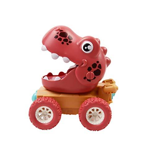Gadpiparty Tire hacia Atrás de Los Juguetes de Los Autos Juguetes de Dinosaurios para Niños Vehículos para Niños Juguetes de Modelos de Autos Autos de Juguete para Niños Pequeños (Color
