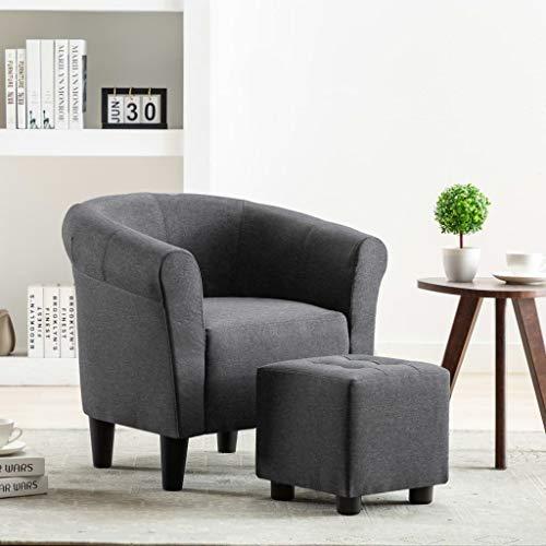 Taidallo Möbel nach Hause Hinterhof-Gartenstuhl Sessel dunkelgrau Stoff Decorate Your House (Farbe : L)