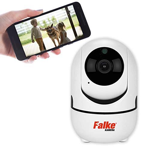 HD WiFi/WLAN Überwachungskamera mit Nachtsicht IP, Bewegungserkennung, 2 Wege Audio & Intelligenter Rotation, Indoor-Kamera für Baby/Haustier Überwachung, ONVIF