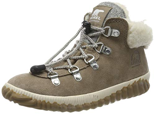 Sorel Youth out N About Conquest, Botas para Niñas, Beige (Ash Brown/Natural 240), 32 EU