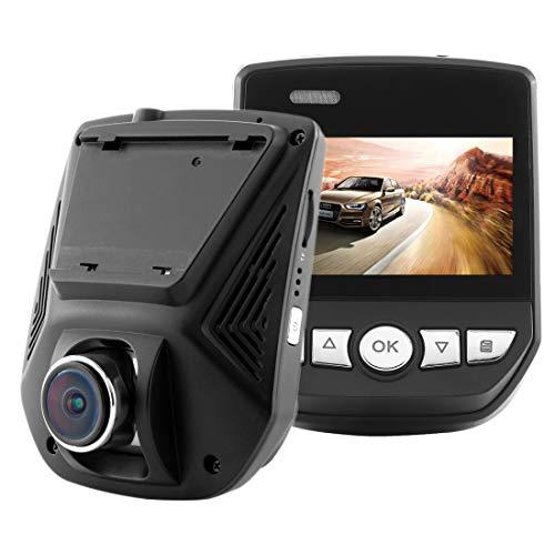 YANTAIAN A305 Car DVR Camera 2.45 Pulgadas IPS Pantalla Full HD 1080P 170 Grados Gran Angular, Soporte de detección de Movimiento/TF Card/G-Sensor/WiFi/HDMI (Color : Black)