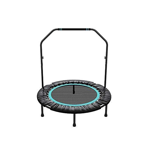 UIZSDIUZ Mini trampolín, Yoga Interior Primavera Cubierta Cama for Adultos y niños con Brazos Desmontables de 40 Pulgadas