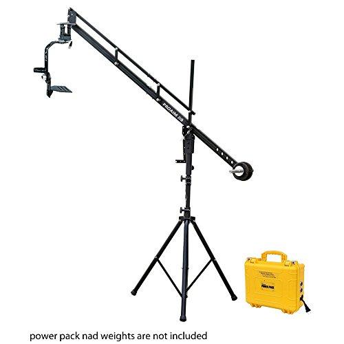 PROAIM 9ft Professional braccio gru jib con treppiede, Jr. pan-tilt head e 12V Power Pack supporta tutte le videocamere DSLR | Lanc Zoom controller + borsa di stoccaggio (P-9-JS-JRPP)