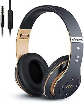 Prtukyt 6S Bluetooth Headphones with Built-in Mic Volume Control FM