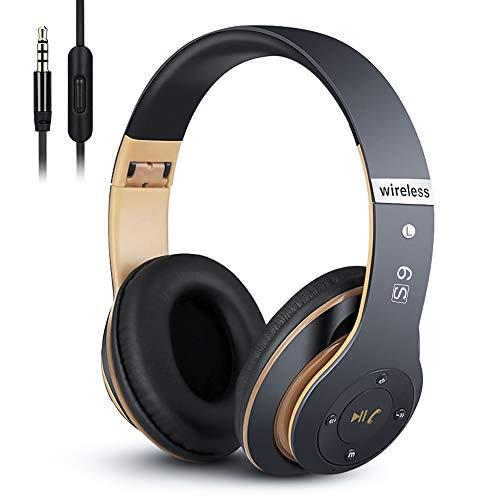 6S Wireless Headphones Over Ear, [52 Hrs Playtime] Hi-Fi Stereo Foldable...
