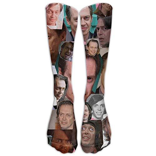HNJZ-GS 15,74 In Unisex Steve Buscemi Collage Einzigartiges Design Hohe Socken Beinlinge Fußball Aseball Für Männer Frauen