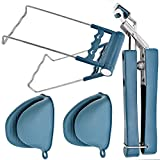 Pinzas anti-quemaduras, alfombrillas de silicona, guantes anti-quemaduras, que se utilizan para sacar platos calientes del horno y microondas