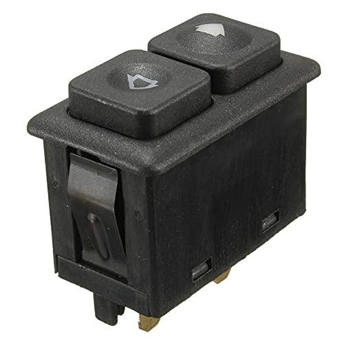 CZLSD Accesorios de automóviles Negros Interruptor de Ventanas de Potencia iluminada Parte Delantero Izquierdo para BMW E23 E24 E28 E30 BW102 613 113 812 05
