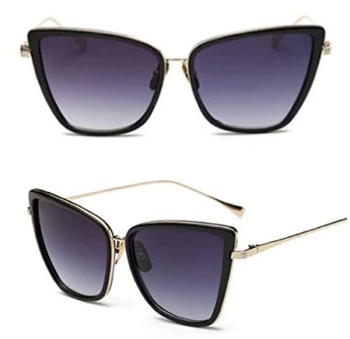 Gafas de sol cuadradas negras con ojo de gato para mujer, estilo retro vintage 2020 Ibiza Festival