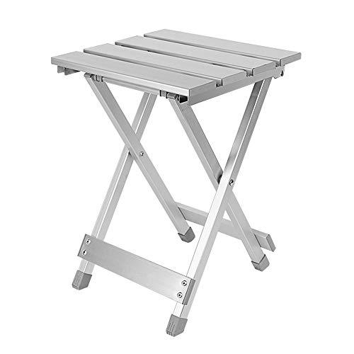 Multifunktionaler Klappstuhl aus Aluminium für den Außenbereich Kratzfester, tragbarer Stuhl zum Angeln Hochfester, bequemer Camping-Klappstuhl aus Aluminiumlegierung. Tragbarer Klappstuhl aus Metall