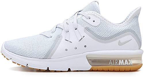 Nike Women's Air Max Sequent 3 Running Shoe White/Pure Platinum Size 7.5 M US