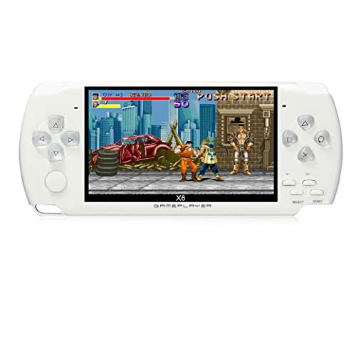 JXD 4.3 inch 8GB Handheld Portable Game Console Built in 1200+Real Video Games for gba/gbc/SFC/fc/SMD Games mp3/mp4/mp5/DV/DC Function (White)