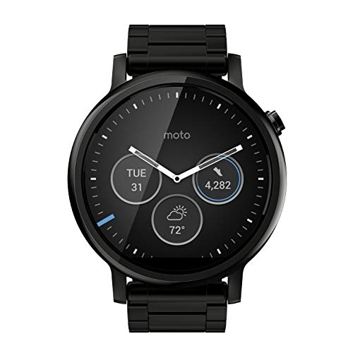 Motorola Moto 360 (2nd Gen) 46mm Smartwatch - 22mm Band - Black Metal
