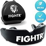 FIGHTR - Paradenti Premium max, ossigeno e sicurezza + Easy Fit senza BPA, con paradenti S...