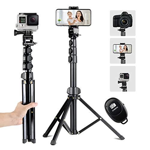 Eocean Palo Selfie Trípode con Bluetooth Remoto, 56'/142cm Tripie para Celular/DSLR Cámara, Trípode de Varilla Extensible, Todo en...