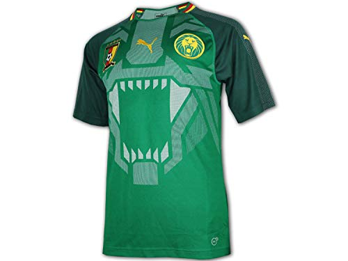 PUMA Herren FCF Cameroon Home Shirt Replica SS, Power Green-June Bug, L