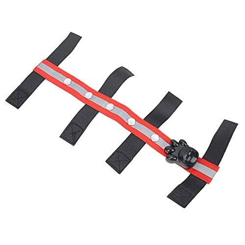 Cinturón LED ecuestre, diseño de gancho y bucle para cabeza de caballo LED para exterior para ecuestre(red)