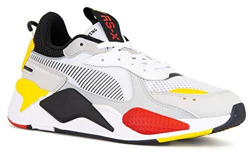 PUMA RS-X Toys Uomo Bianco/Nero/Giallo Sneaker-UK 7 / EU 40.5