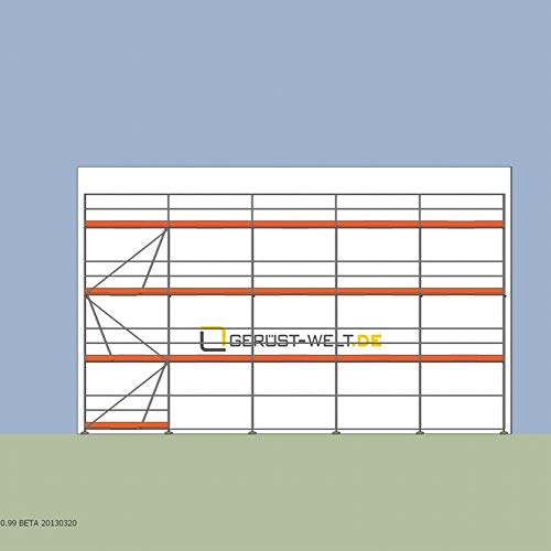 Fassadengerüst Paket 87,5 m² Rux Super 65 Feldlänge 2,5 m ca 6 m Standhöhe