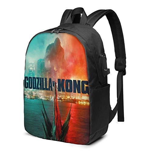 Godzilla Vs King Kong Backpack Kids'School Bag Ergonomic Travel Bag Bookbag Daypack For Boys And Girls 17 Inches