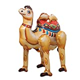 Self Stand Cute Cartoon Giant Rabbit Fox Camel Animal Foil Balloon Happy Birthday Decorations Baby Shower Party Supplies Boys Toy (3D Brown Camel)