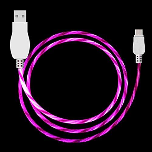 MEMETIXHEV Cables de Datos For Galaxy, Huawei, Xiaomi, LG, HTC y Otros teléfonos Inteligentes USB-C & C-Tipo (Color : Magenta)