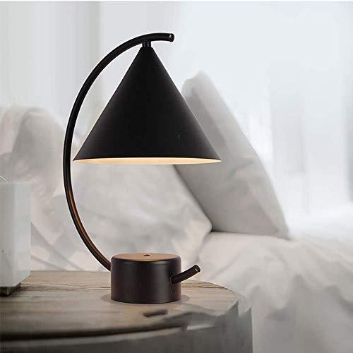 VIWIV Lámpara de escritorio regulable para dormitorio o mesita de noche, hotel, estudio, personalidad, decoración, lámpara de mesa LED creativa (color : negro, tamaño: B) (color: B, tamaño: blanco)