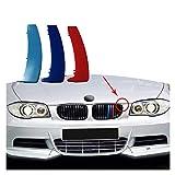 Rejillas delanteras 3 Uds ABS Para B-MW Serie 1 E87 E82 E81 E88 Tira De Rejilla De Carreras De Coches Clip De Ajuste M Accesorios De Rendimiento De Potencia 2004-2011 ( Color : E87 fillet 2004 2011 )