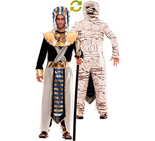 EUROCARNAVALES Disfraz Doble de Faraón Egipcio y Momia para Hombre