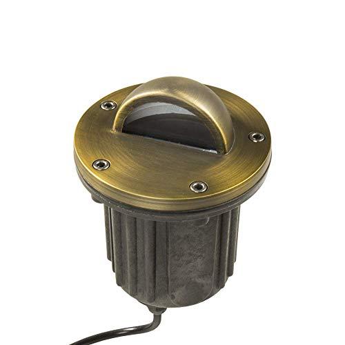 Lumen Logic 12V Brass In-Ground Well Light (Beacon Top) with LED Bulb