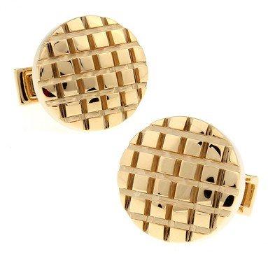 Gemelolandia | Boutons de Manchette Solid Rounded Stripes in Gold | Pour Hommes et Garçons | Cadeaux Pour Mariages, Communions, Baptêmes et Autres Évé