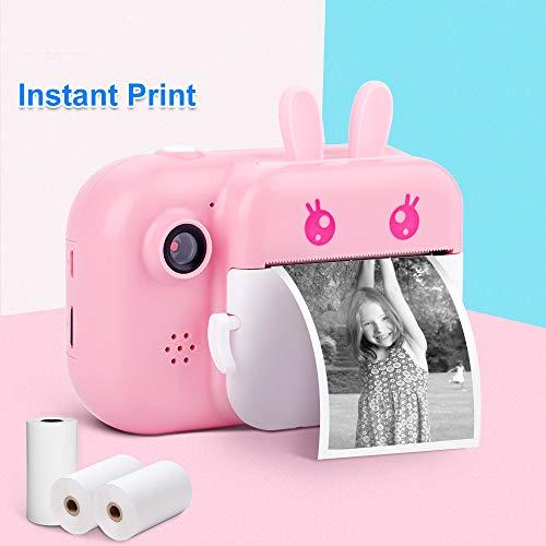 JSX Mehrere Funktionen Kamera Für Kinder, Polaroid-Kamera Für Kinder 1080P HD-Kamera Mit Thermal-Fotopapier Spielzeug-Kamera Für Die Geburtstags-Geschenke