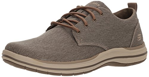 Skechers Men's Classic Fit-Elson-Moten Oxford,brown,12 M US