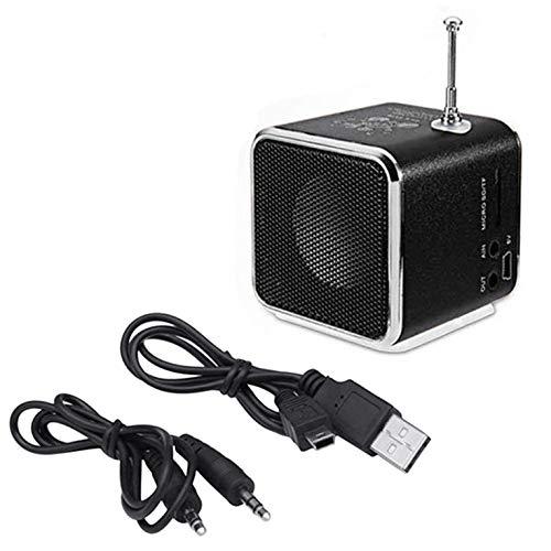 Portátil Td-V26 Altavoz de Radio FM Digital Mini Receptor de Radio FM con Soporte de Altavoz estéreo LCD Tarjeta Micro TF