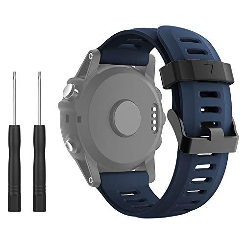 kitway Fenix 3 Correa, Banda Fácil de Ajuste 26 mm Ancho Suave Silicona Correa de Reloj para Fenix 5X/Fenix 3/Fenix 3