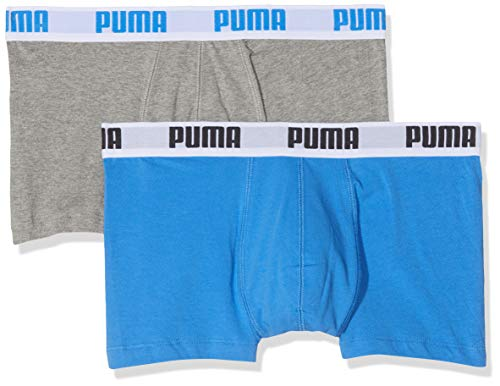 Puma Herren Boxershorts Basic 2er Pack, Blau-Grau, S, 521025001