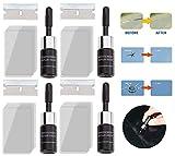 4 Set 28 Piezas de Agente de reparación de Parabrisas crackflix, líquido de reparación Nano de Vidrio Agrietado para Herramientas de reparación de Vidrio (Negro)